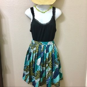 H&M Skirts - Skirt HM Green Multicolored Pattern Size 4.